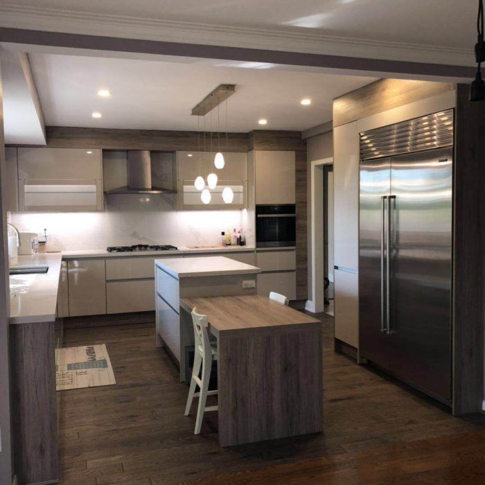 Contemporary Kitchen Look With High Gloss Cabinet 1 Fuda Homes