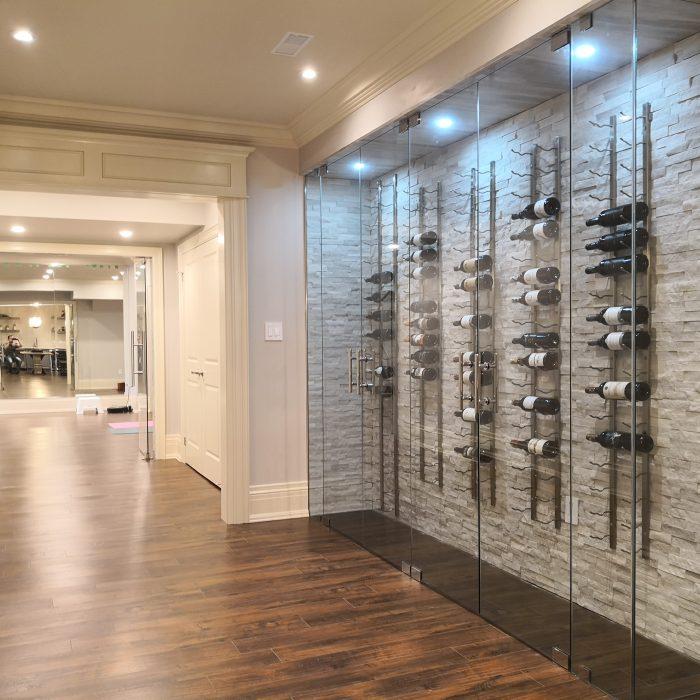 Wine Cellar in Renovated Basement in Burlington