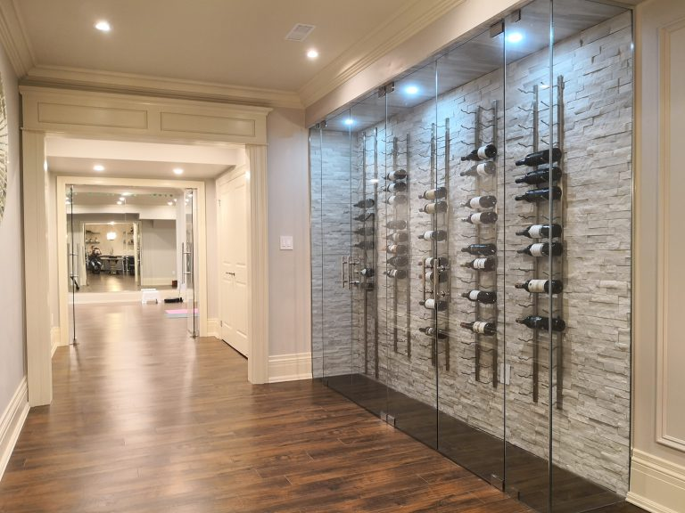 Wine Cellar in Renovated Basement in Burlington
