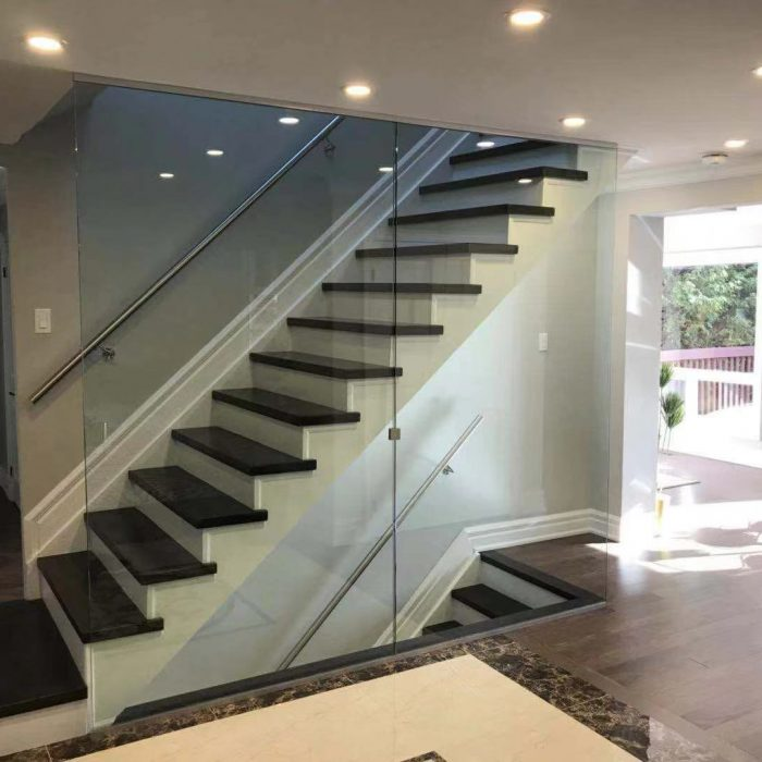 contemporary staircase project in Toronto Fuda Homes