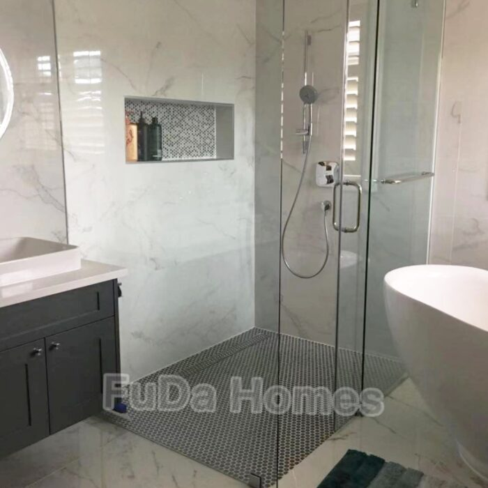 curbless shower flooring