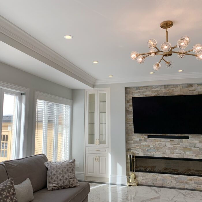 Living Room with accent wall